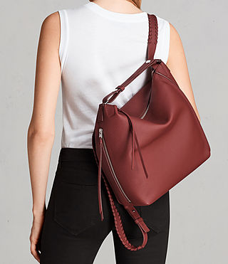 Damen Kita Sm Backpack (BERRY RED) - Image 3