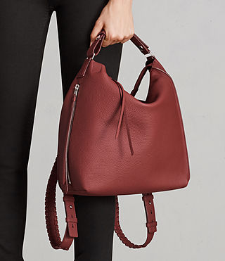 Damen Kita Sm Backpack (BERRY RED) - Image 4