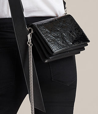 Women's Zep Shoulder Bag (SHINY BLACK) - product_image_alt_text_2