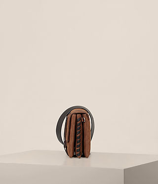 Women's Fin Box Bag (COFFEE BROWN) - product_image_alt_text_4