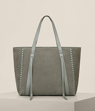 Womens Ray Nubuck East West Tote (LIGHT SLATE GREY) - Image 1