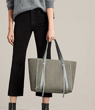 Womens Ray Nubuck East West Tote (LIGHT SLATE GREY) - Image 2