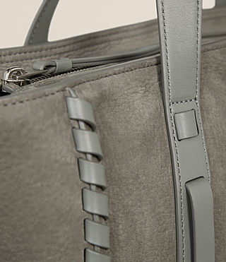 Womens Ray Nubuck East West Tote (LIGHT SLATE GREY) - Image 3