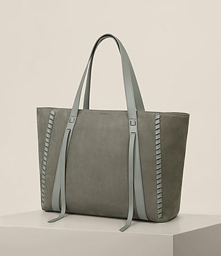 Womens Ray Nubuck East West Tote (LIGHT SLATE GREY) - Image 5