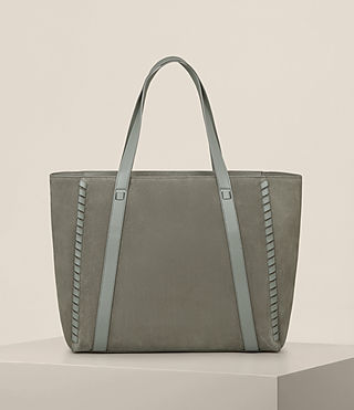 Womens Ray Nubuck East West Tote (LIGHT SLATE GREY) - Image 7