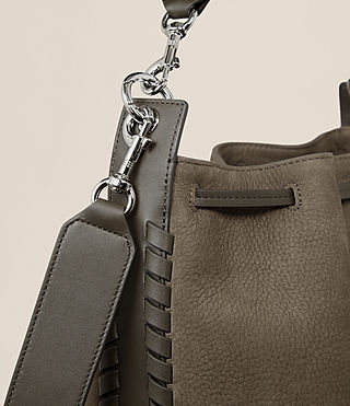 Women's Ray Nubuck Bucket Bag (MINK GREY) - product_image_alt_text_4