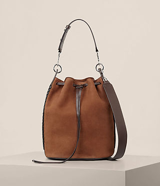 Women's Ray Nubuck Bucket Bag (COFFEE BROWN) - Image 1
