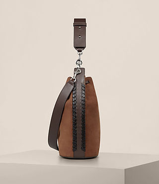 Women's Ray Nubuck Bucket Bag (COFFEE BROWN) - Image 5