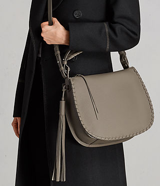 Womens Mori Hobo Bag (MINK GREY) - Image 2