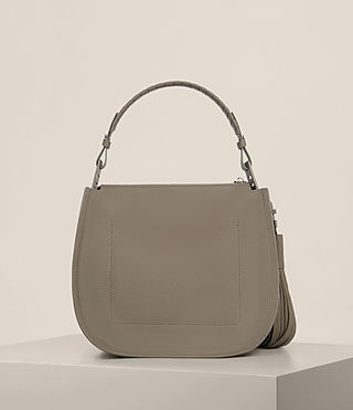 Womens Mori Hobo Bag (MINK GREY) - Image 7