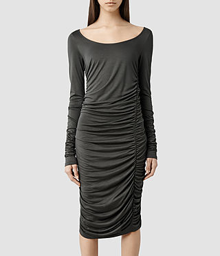 Womens Milla Dress (Anthracite)