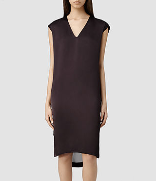 Womens Alia Dress (LIQUORICE)