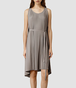 Womens Emilie Dress (Taupe/Taupe)
