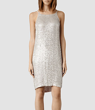 Womens Cecile Dress (Oyster)