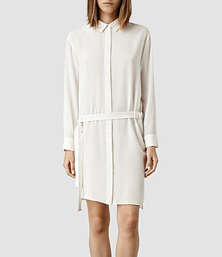 Womens Kari Shirt Dress (Chalk)