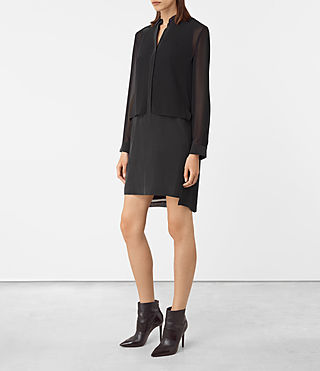 Femmes Radial Dress (Black) - product_image_alt_text_2