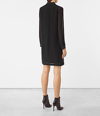 Damen Radial Dress (Black) - product_image_alt_text_4
