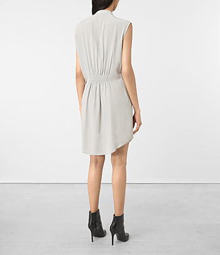 Women's Sirius Silk Dress (STORM GREY) - product_image_alt_text_5