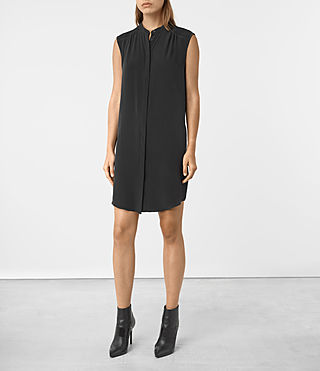 Womens Sirius Silk Dress (Black)
