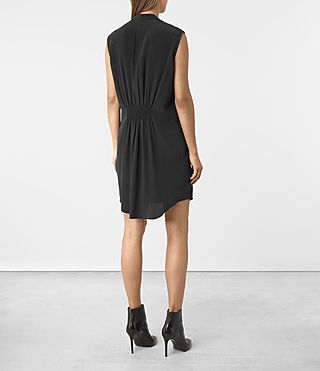 Mujer Sirius Silk Dress (Black) - product_image_alt_text_3