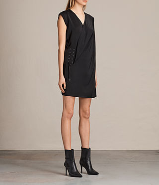 Mujer Aures Dress (Black) - product_image_alt_text_3