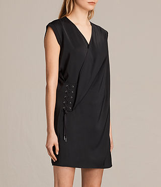 Women's Aures Dress (Black) - product_image_alt_text_4