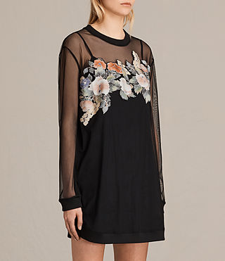 Mujer Keela Sweat Dress (Black) - product_image_alt_text_5