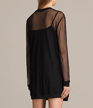 Mujer Keela Sweat Dress (Black) - product_image_alt_text_7