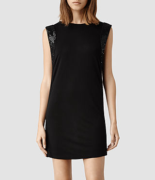 Womens Nela Dress (Jet Black)
