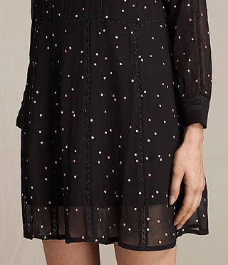 Women's Star Embroidered Dress (Black) - product_image_alt_text_4