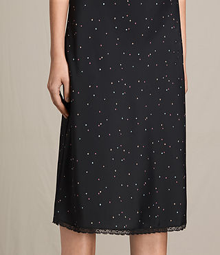 Women's Star Print Slip Dress (Black) - product_image_alt_text_5