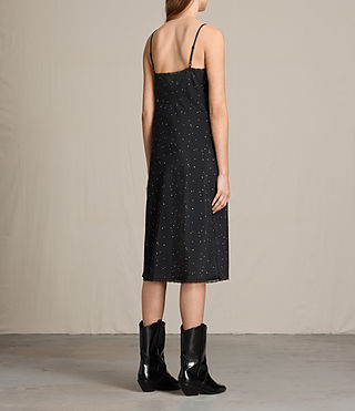 Women's Star Print Slip Dress (Black) - product_image_alt_text_7