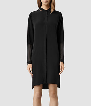 Womens Rivi Shirt Dress (Black)