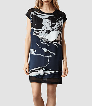 Womens Reverso Rip It Up Dress (Ink/Nude)