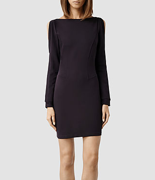 Womens Emelle Dress (LIQUORICE)