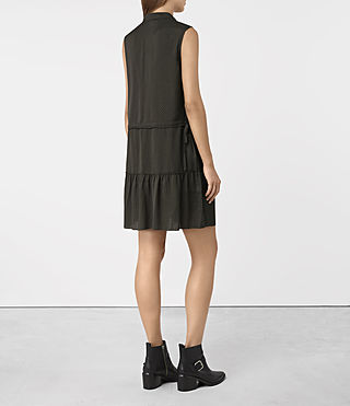 Damen Lin Dress (Dark Khaki Green) - product_image_alt_text_5