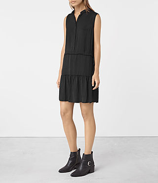 Womens Lin Dress (Black)