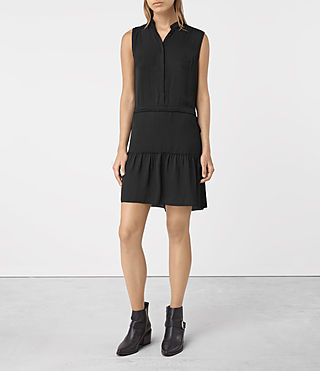 Mujer Lin Dress (Black) - product_image_alt_text_3