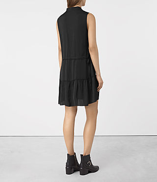 Mujer Lin Dress (Black) - product_image_alt_text_5