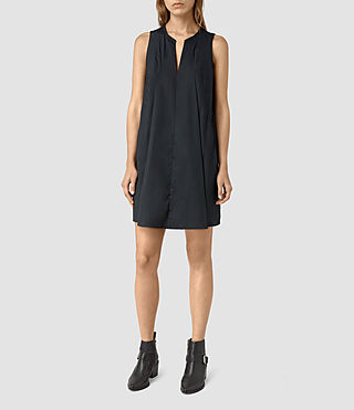 Womens Bea Dress (Ink Blue) - product_image_alt_text_1