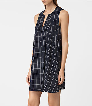 Damen Bea Dress (INK BLUE/C.WHITE) - product_image_alt_text_2
