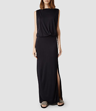 Womens Tine Long Dress (Ink)