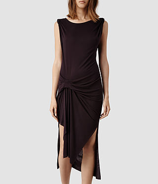 Womens Riviera Tavi Dress (Deep Burgundy)