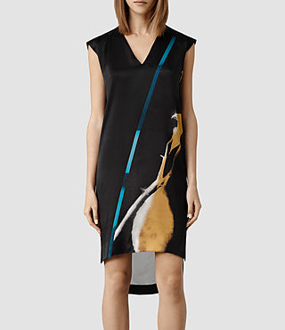 Womens Alia Disperse Dress (Black)