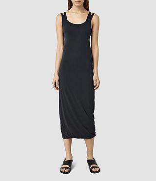 Womens Mae Midi Dress (DARK NIGHT BLUE)