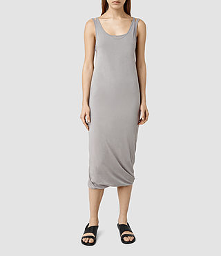 Womens Mae Midi Dress (LUNAR GREY)