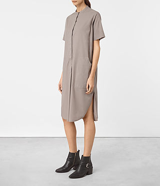Femmes Alexa Shirt Dress (Chrome Grey) - product_image_alt_text_2