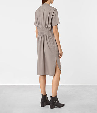 Mujer Alexa Shirt Dress (Chrome Grey) - product_image_alt_text_3