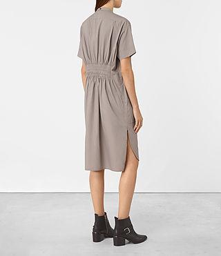 Women's Alexa Shirt Dress (Chrome Grey) - product_image_alt_text_3