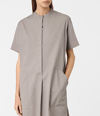 Femmes Alexa Shirt Dress (Chrome Grey) - product_image_alt_text_4